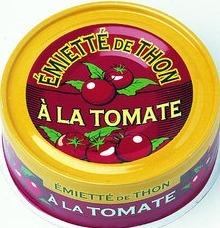 Emiette de thon a la tomate