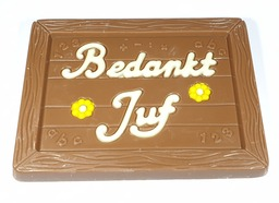 "Chocolade Schoolbord ""Bedankt Juf"""