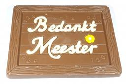 """Chocolade Schoolbord """"Bedankt Meester"""""""