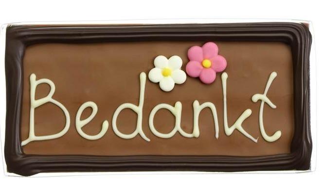 """Chocolade wenstablet """"Bedankt"""""""