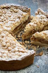 Appel kruimel taartje