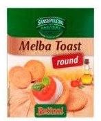 Melba toast rond