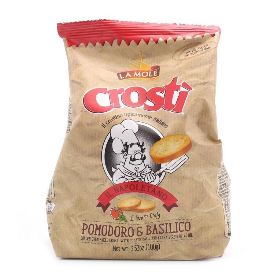 Crosti tomaat basilicum