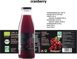 Cranberrysap Delizum 750ml