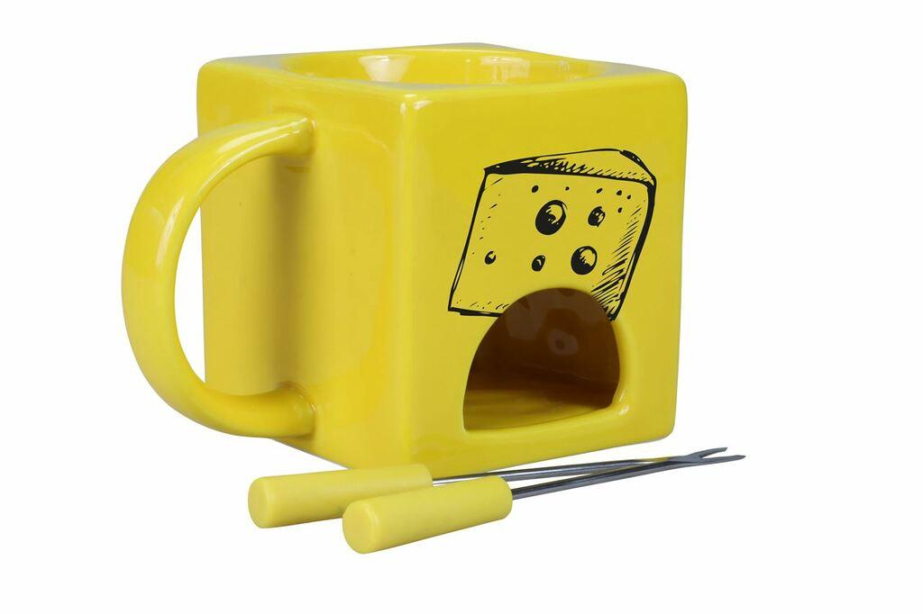 Kaasfonduepannetje geel