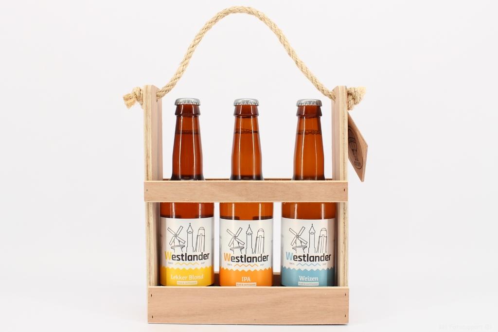 Westlander Bier in kratje