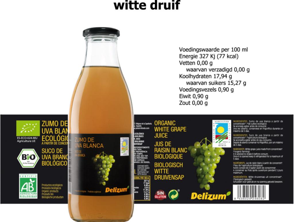 Delizum Witte druivensap 750ml